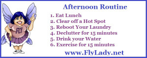 The FlyLady's Afternoon Routine