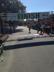 Just before I crossed the Finish Line
