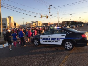 Charleston PD is the best! Thanks for keeping us safe. (Photo Courtesy of Father and Son Ultra Runners)